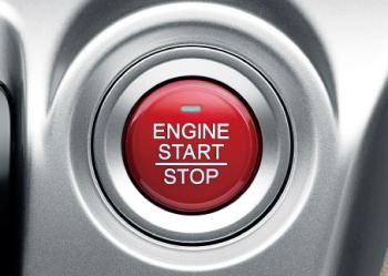 N-WGNのプッシュエンジンスタート/ストップスイッチ