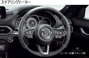 CX-8の運転席&助手席シートヒーター&ステアリングヒーター