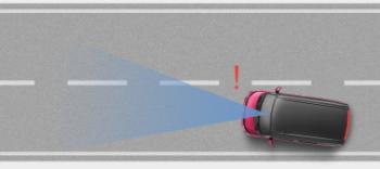 タンクの車線逸脱警報機能