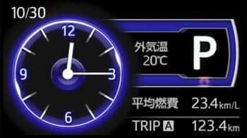 タンクのTFTカラーマルチインフォメーションディスプレイの拡大画像