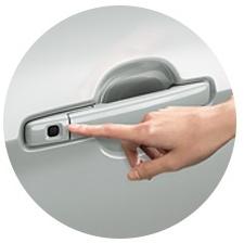 デイズルークスのスライドドアのノブのスイッチ