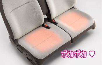 N-WGNの運転席&助手席シートヒーター