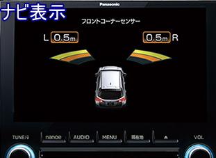 ディスプレイコーナーセンサーのナビ表示画面