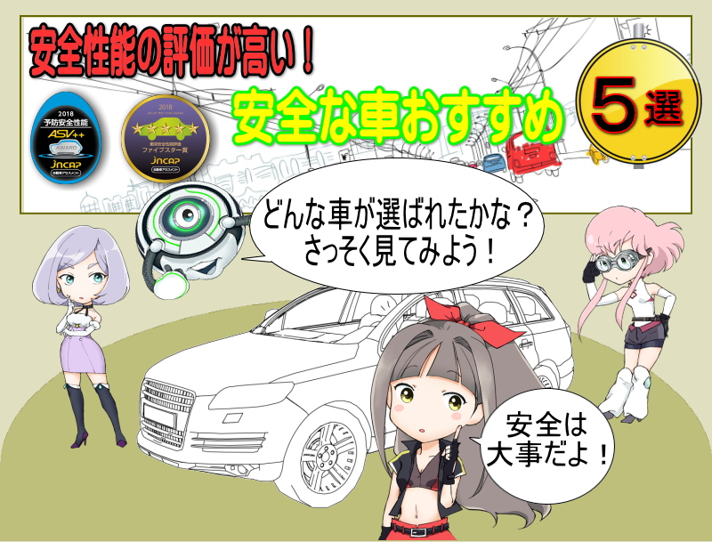 安全性能の評価が高い!安全な車おすすめ5選!