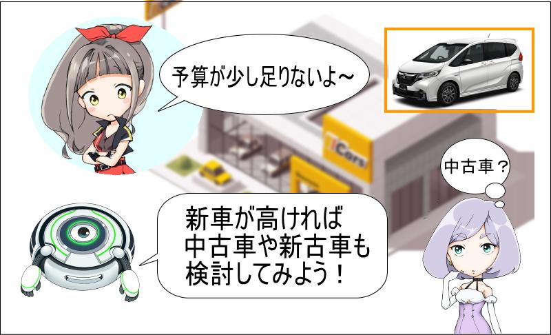 フリードの新車が高ければ中古車や新車も検討しよう!