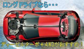CX-8でのロングドライブにおすすめなのはディーゼル+4WDの組み合わせ。
