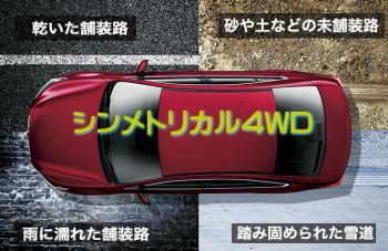 レガシィB4のシンメトリカル4WD
