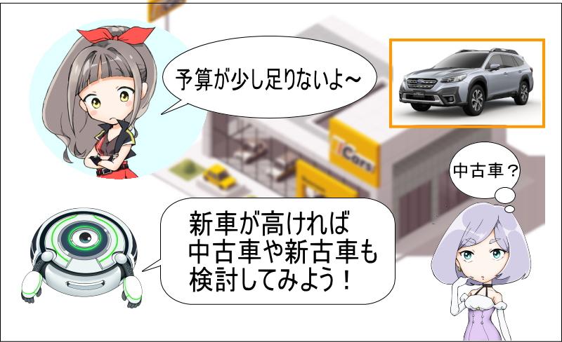 レガシィの新車が高ければ中古車や新車も検討しよう!