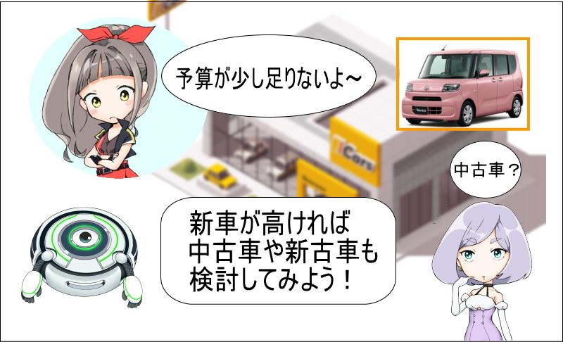 タントの新車が高ければ中古車や新車も検討しよう!