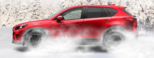 デミオ 4WD車の雪道走行性能