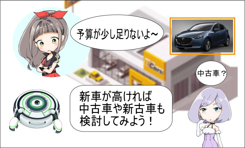 マツダ2の新車が高ければ中古車や新車も検討しよう!