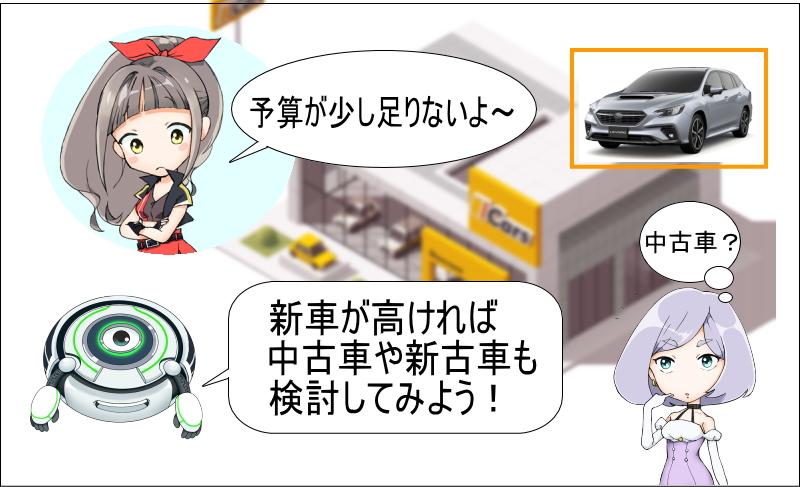 レヴォーグの新車が高ければ中古車や新車も検討しよう!